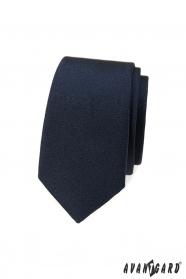 Temně modrá slim kravata