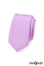 Světle fialová kravata Slim