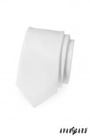 Úzká kravata SLIM Bílá MAT