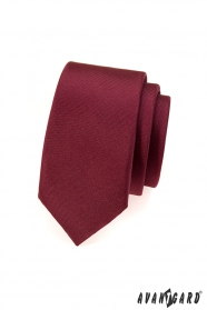 Bordó pánská kravata SLIM matná