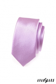 Úzká kravata SLIM Fialová lesk