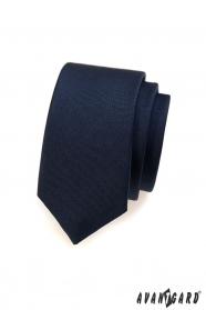 Hladká modrá pánská kravata SLIM