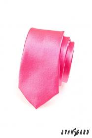Kravata SLIM fuchsiová růžová