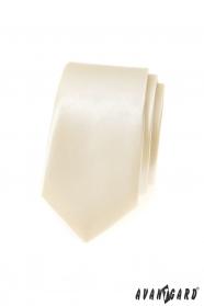 Smetanová pánská slim kravata