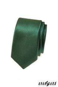 Tmavě zelená kravata SLIM