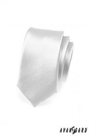 Stříbrná úzká kravata SLIM