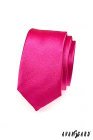 Pánská kravata fuchsiová slim