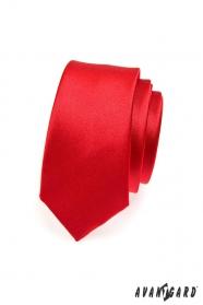 Červená úzká kravata SLIM