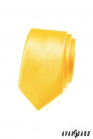 Kravata SLIM výrazná žlutá