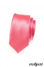Úzká kravata korálové barvy