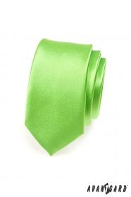 Úzká kravata SLIM Zelená vysoký lesk