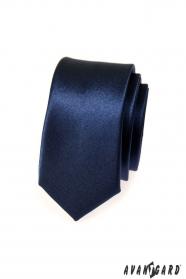 Úzká kravata SLIM pánská modrá