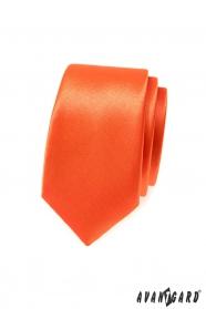 Oranžová slim kravata