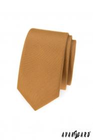 Úzká béžová kravata Avantgard