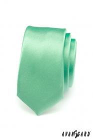 Zelená úzká kravata SLIM hladká