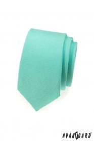 Kravata SLIM mátová matná