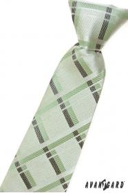 Chlapecká kravata zelená s proužky