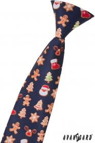 Dětská kravata s vánočním vzorem