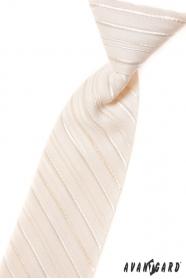 Chlapecká kravata smetanová s linkou