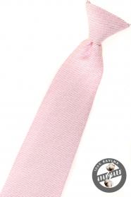 Chlapecká kravata Růžová strukturovaná
