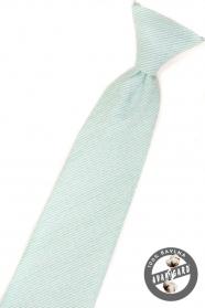 Chlapecká kravata mátová strukturovaná