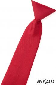 Matná červená chlapecká kravata