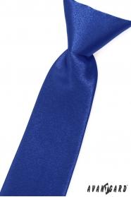 Sytě modrá chlapecká kravata