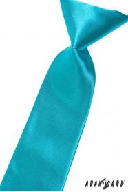 Chlapecká kravata tmavě tyrkysová