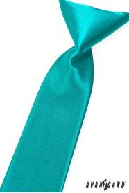 Tyrkysově modrá chlapecká kravata