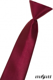 Chlapecká kravata bordó lesklá