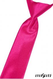 Chlapecká kravata Fuchsiová s leskem