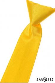 Chlapecká kravata žlutá hladká