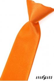 Oranžová chlapecká kravata