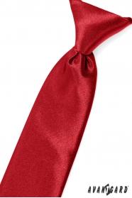 Červená chlapecká kravata na gumičku