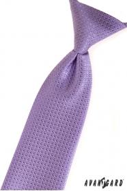 Chlapecká kravata Fialová strukturovaná