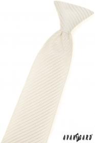 Vzorovaná chlapecká kravata smetanové barvy