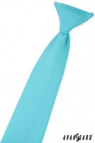 Chlapecká kravata Tyrkysová mat