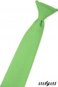 Chlapecká kravata trávově zelená