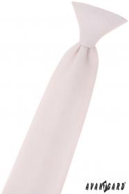 Chlapecká kravata pudrově růžová