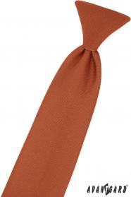 Skořicově hnědá chlapecká kravata