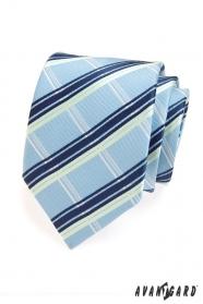 Pánská kravata modrobílé proužky