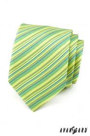 Světle zelená proužkovaná kravata