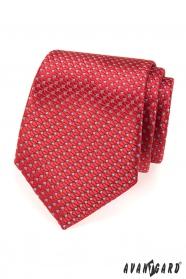 Červená strukturovaná kravata Avantgard