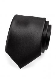 Matná pánská kravata černá