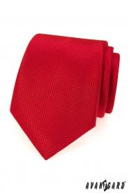 Červená pánská kravata se strukturou