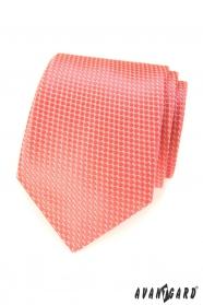 Lososová kravata s pravidelným vzorem