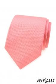 Strukturovaná kravata v barvě lososa