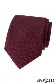 Bordó kravata s černým vzorem