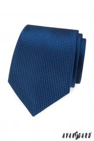 Modrá kravata s prošívaným vzorem