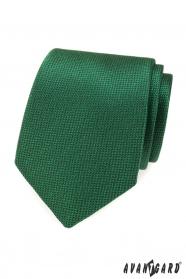 Zelená pánská kravata se strukturou